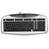 A4 Tech Kb21 F Usb Multimedya Gümüş Siyah Klavye