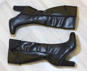 Topuklu Siyah Çizme