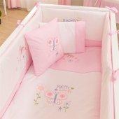 Funna Baby Pretty 8 Parça 80x140 Bebek Beşik Uyku Seti 5501 Pembe
