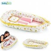 Babyjem Anne Baba Yanı Bebek Yatağı Sarı