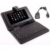 üniversal 7 İnc 9 İnc Klavyeli Tablet Kılıfı + Otg Kablo Hediye