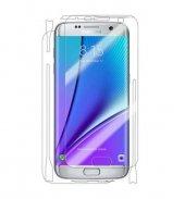 Samsung S6 Edge Ön Arka Full Body Ekran Koruyucu Cam Şeffaf
