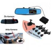 Araç Dikiz Ayna Dvr Araç Kayıt Cihazı 1080p Geri Görüş Park Sensö