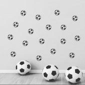 Siyah Beyaz Futbol Topu Sticker