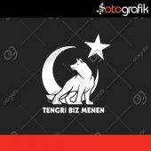 Otografik Tengri Biz Menen Oto Sticker