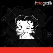 Otografik Betty Boop Oto Stıcker
