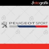 Otografik Peugeot Sport Logolu Oto Stıcker