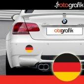 Otografik Alman Bayrağı Arma Oto Stıcker (1 Çift)
