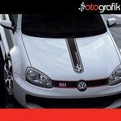 Otografik Volkswagen Kısa Sport Şerit Oto Stıcker