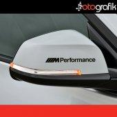 Otografik Bmw M Performance Kapı Kolu Jant Oto Stıcker Seti