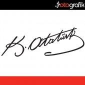 Otografik Kemal Atatürk İmzası Oto Sticker