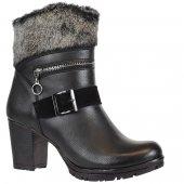 Nstep 8076k Bayan Topuklu Fermuarlı Termal Kışlık Bot Ayakkabı