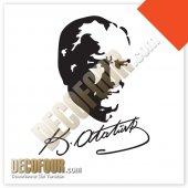 Decofour İmzalı Atatürk Duvar Stıcker Ata01d4