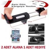 Araç İçi Havalandırma Telefon Tutucu (2 Adet Alana 1 Adet Hediye)
