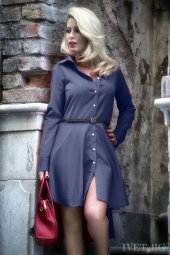 Japon Style Bayan Kemerli Elbise