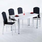 Evform Platim Mutfak Masası Takımı Masa Sandalye Set Yemek Masasi