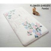 Confetti Flower Garden Kaymaz Banyo Paspası İki Parça Pembe