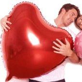 En Büyük Kırmızı Kalp Folyo Balon 35 Cm