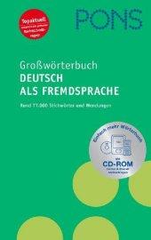 Pons Großwörterbuch Deutsch Als Fremdsprache Mit Cd Rom (Deutsch)