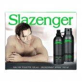 Slazenger Active Sport Yeşil Kofre Hediye Seti Edt Parfüm Deo