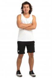 Leu Erkek Spor Fitness Beyaz Atlet