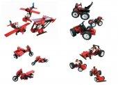 Fischertechnik Taşıtlar Seti Lego 450 Parça 21 Model