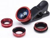 Balık Gözü Lens + Geniş Açı Lens + Makro Lens Telefon Lens