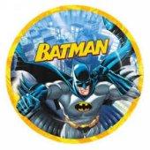 Batman Desenli Karton Tabak 23 Cm 8 Adetli