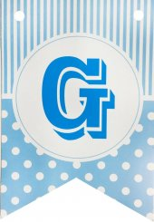Bayrak Banner Harfler (G) Mavi