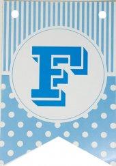 Bayrak Banner Harfler (F) Mavi