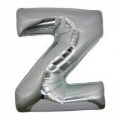 Folyo Balon Harf Z Gümüş 40 İnc Helyum Balon Parti Doğum Günü