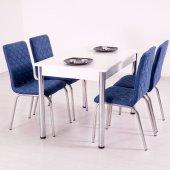 Mutfak Masa Takımı Masa Sandalye Toz Pembe Bordo Mavi Krem