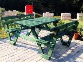 Alaçam Mobilya Sırt Dayamalı Piknik Masası 6 Kişil...