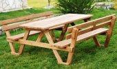 Alaçam Sırt Dayamalı Piknik Masası 8 Kişilik