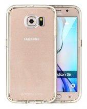 Totudesing Samsung Galaxy S6 Alüminyum Gold Çerçeveli Kılıf