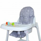 Sevi Bebe Mama Sandalyesi Minderi 150 Gri
