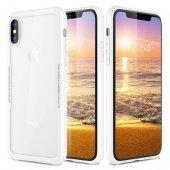 Iphone X Temperli Cam Korumalı Beyaz Kılıf