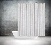 Zethome Tropik Banyo Duş Perdesi 3182 Çift Kanat 2x120