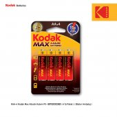 Kodak Max Alkalin Kalem Pil 4 Adet
