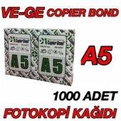 Vege Copier Bond A5 Fotokopi Kağıdı 1000 Adet