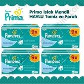 36 Paket Prima Islak Mendil Havlu Temiz Ve Ferah 2304 Yaprak