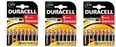 Duracell Aaa Alkalin İnce Pil Toplam 24 Adet (6+2)+(6+2)+(6+2)