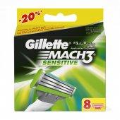 Gillette Mach3 Sensitive Yedek Tıraş Bıçağı 8 Li