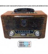 Meier M 115 Usb Sd Mp3 Bluetooth Şarjlı Nostaljik Radyo