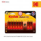 Kodak Max Alkalin Kalem Pil 6+2 Hediyeli Paket