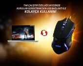 Everest Sgm X8 Usb Siyah Gaming Mouse Pad Ve Oyuncu Mouse