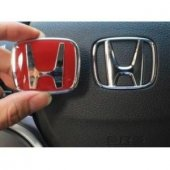 Honda Cıvıc Kırmızı Honda Direksiyon Logosu
