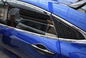 Honda Civic 2016 2019 Fc5 Arka Kelebek Camı Kaplaması Pıano Black