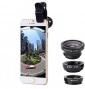 Geniş Açı Balık Gözü Makro Lens Seti Fotoğraf Lensi Samsung İphon