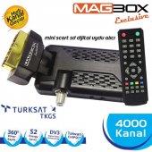 Magbox Exclusive Mini Uydu Anten Alıcısı Scart Tipi
